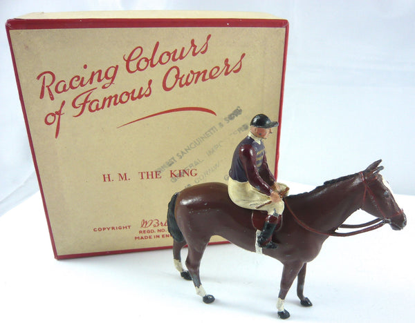 Britains Racing Colours Famous Owners: HM The King, post war, boxed