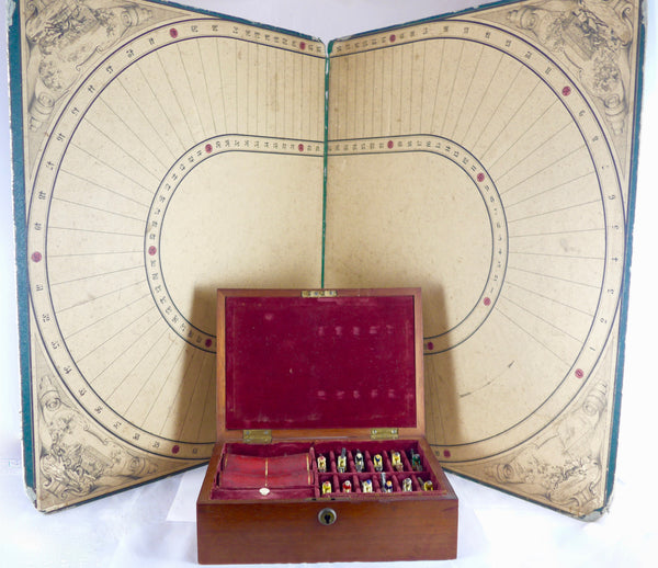 Complete and boxed Spratts horse racing game circa 1860