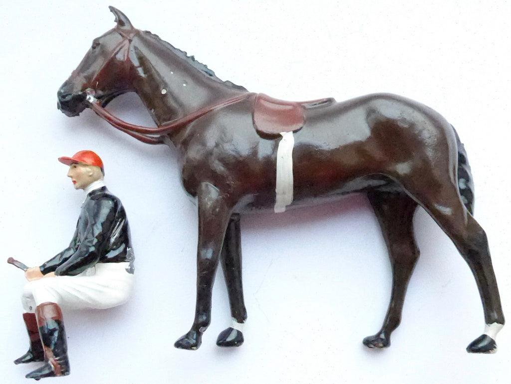 Britains Racing Colours Famous Owners: Mr H J Joel horse and jockey
