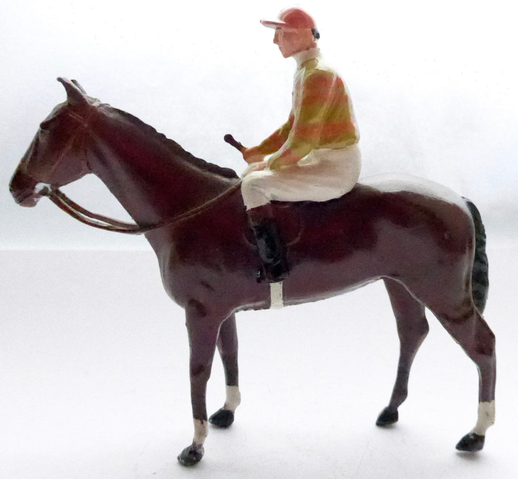 Britains Racing Colours Famous Owners: Lord Rosebery horse and jockey