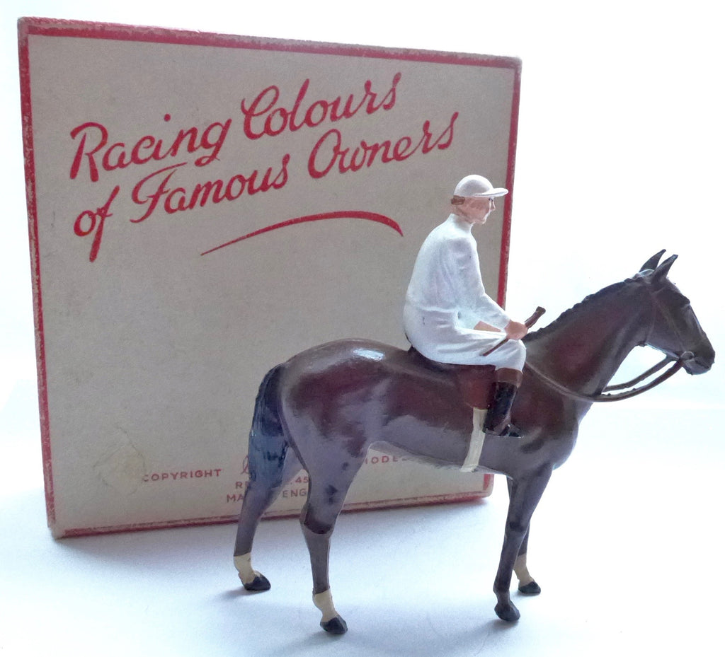 Britains Racing Colours Famous Owners: rare RC0 plain white, post-war, boxed