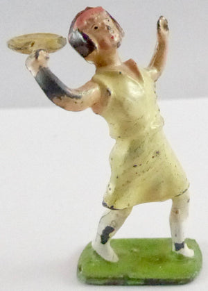 Johillco lady tennis player serving, cream