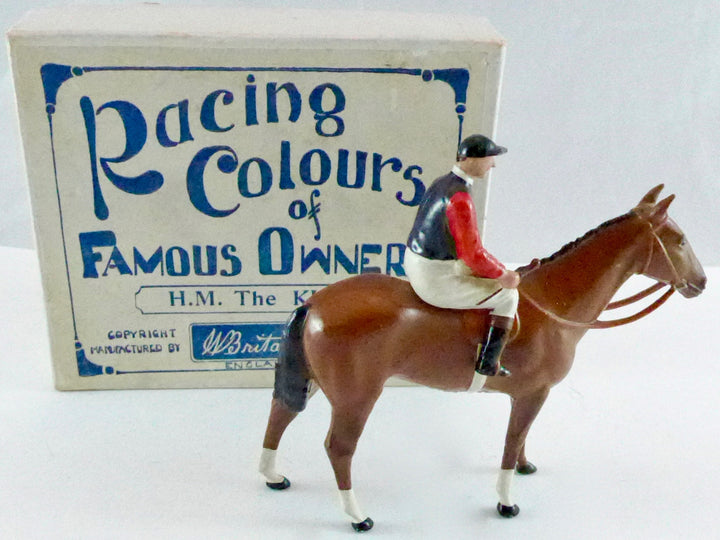 Britains Racing Colours Famous Owners:  HM The King, boxed, pre-war