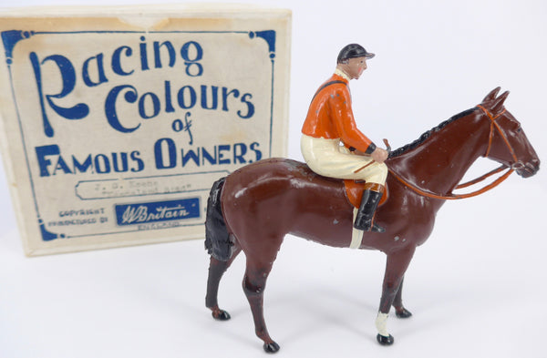 Britains Racing Colours  of Famous Owners, American issue: J G Keene of Keeneland Stud, boxed