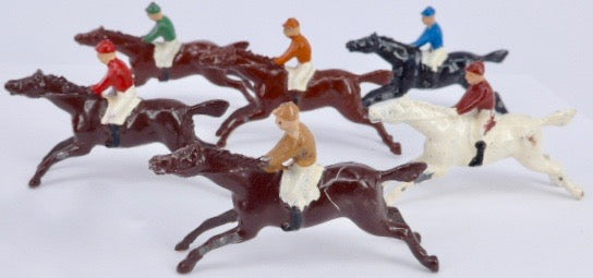 Johillco miniature racehorses, boxed set
