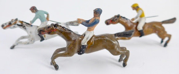 small scale horse racing set, rare