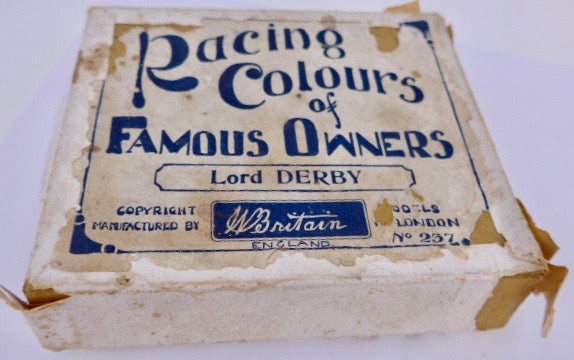 Britains Racing Colours Famous Owners: Lord Derby, boxed, pre-war