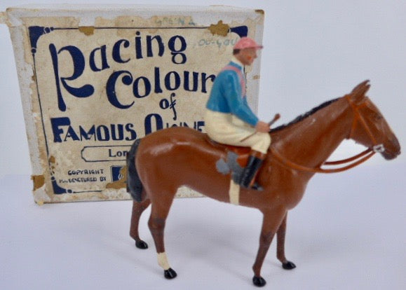 Britains Racing Colours Famous Owners: Lord Astor, pre-war, boxed