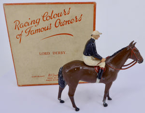 Britains Racing Colours Famous Owners: Lord Derby, boxed, post-war