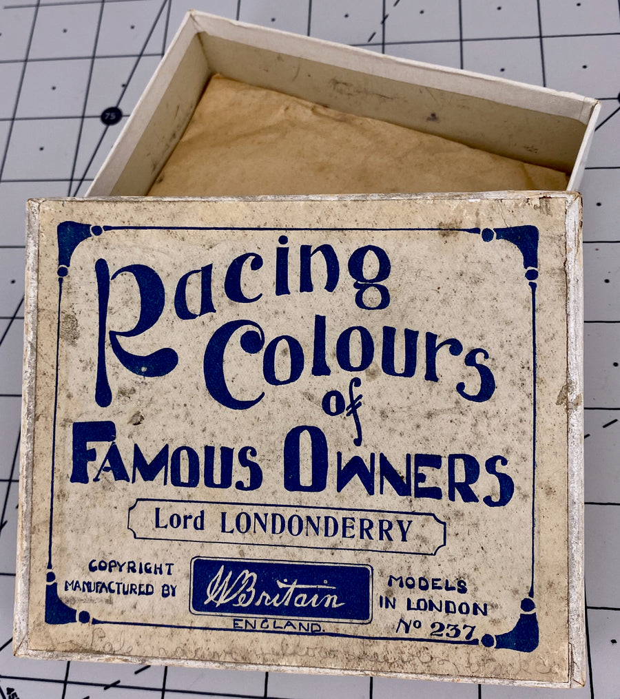 Britains Racing Colours Famous Owners: Lord Londonderry, pre war, boxed