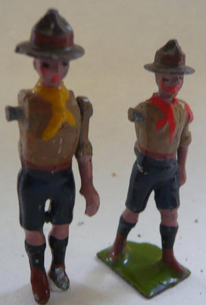 two Britains Boy Scouts