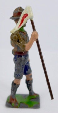 Britains Boy Scout with pennant on pole