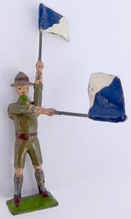 Britains Boy Scout signallers, pair