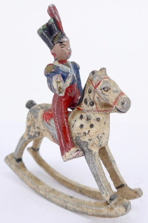 Wend-al mounted officer on rocking horse