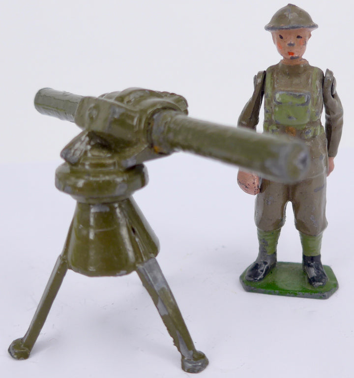 Britains tripod-mounted range finder and soldier