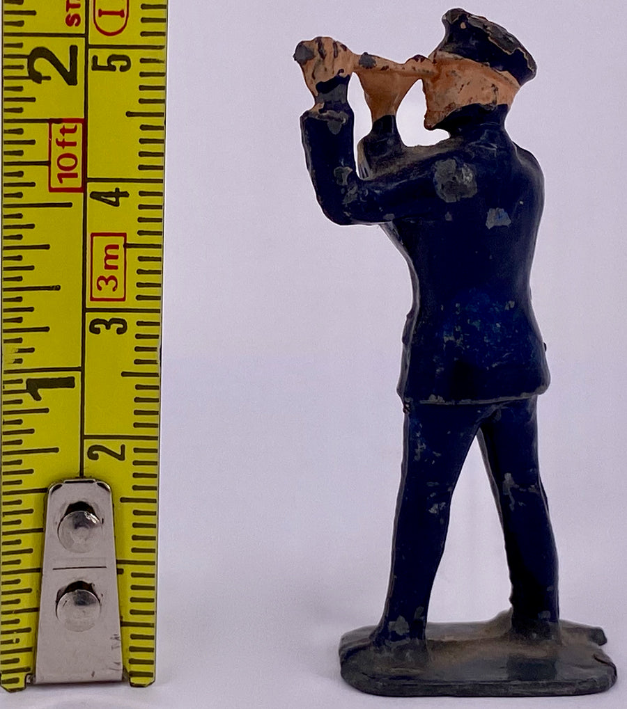 Crescent naval officer with telescope