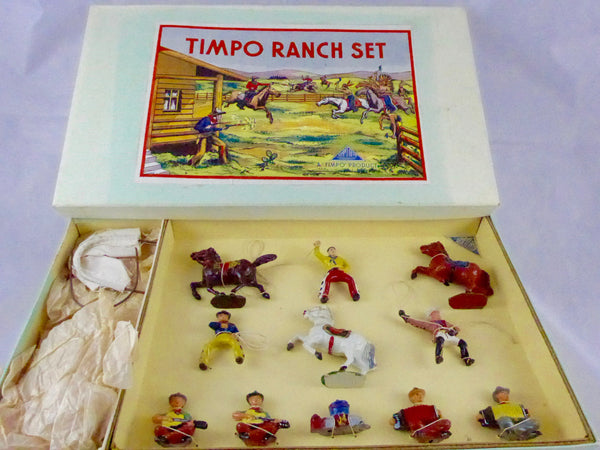 very rare Timpo Ranch Set, complete and boxed