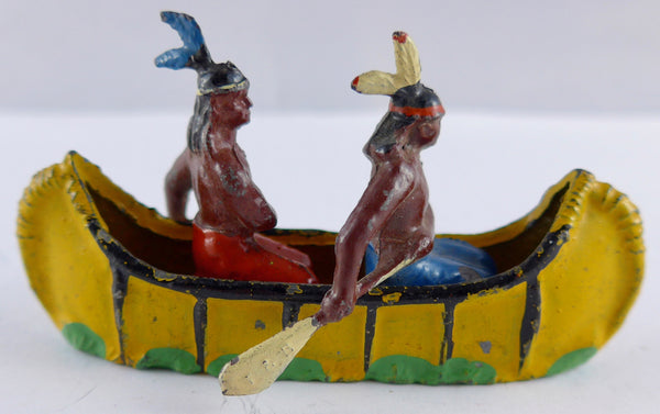 Taylor & Barrett canoe with two North American Indians paddling