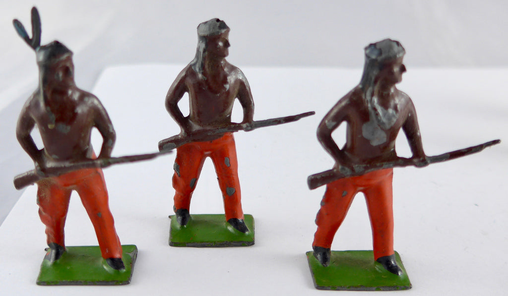 six Britains North American Indian braves with rifles