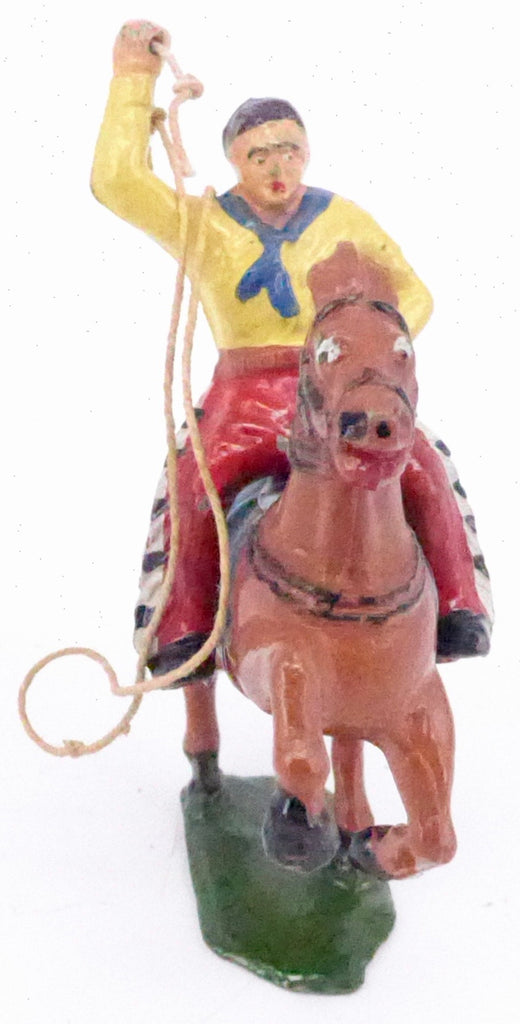 Timpo mounted cowboy with rope