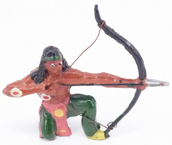 Timpo kneeling Indian brave with bow, green