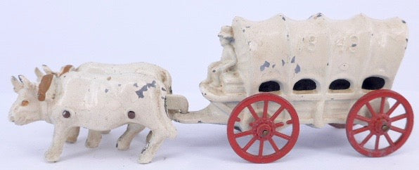 French bullock wagon, white