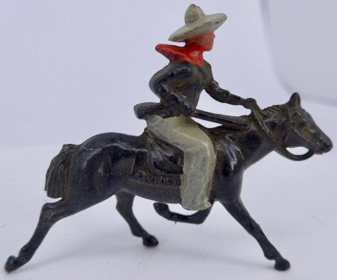 Johillco cowboy on galloping black horse