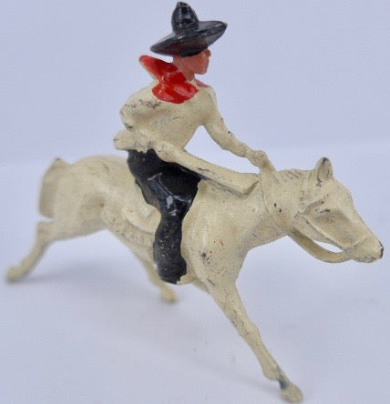 Johillco cowboy on galloping white horse