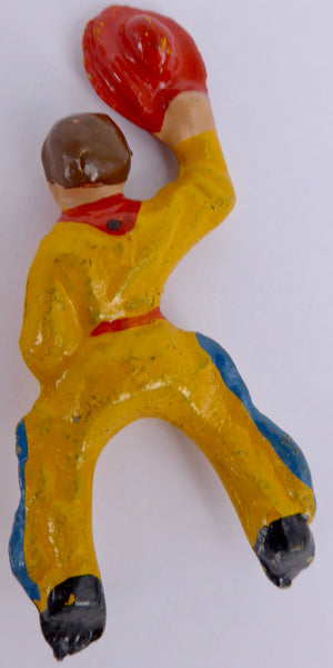 Wend-al seated cowboy for bucking bronco, yellow