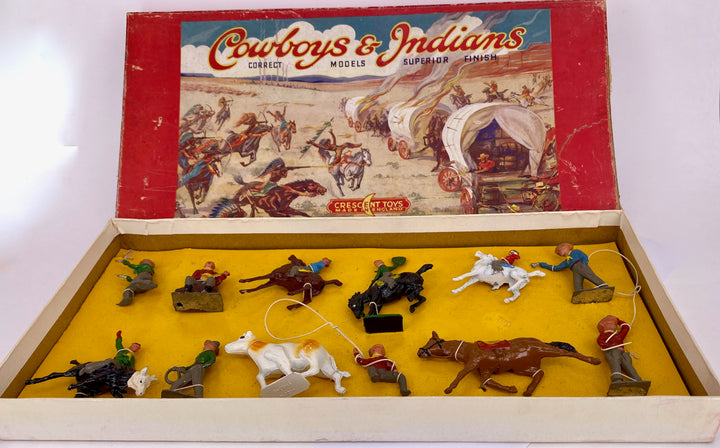 Crescent Western Series Cowboys & Indians boxed set