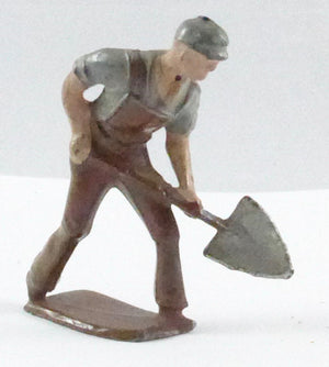 Crescent roadworker with spade