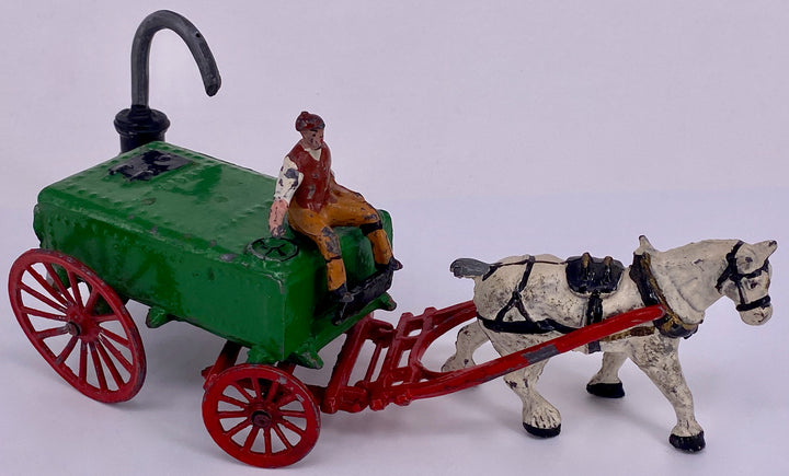 Taylor & Barrett horse drawn water cart and standpipe set, rare