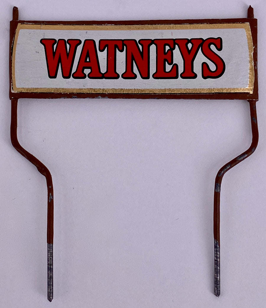replacement tin Watneys sign for brewer's dray