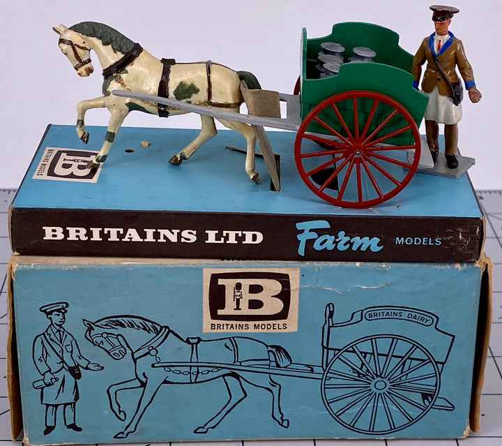 Britains Farm Models milk float, boxed, green