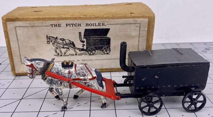Charbens horse-drawn pitch boiler, boxed