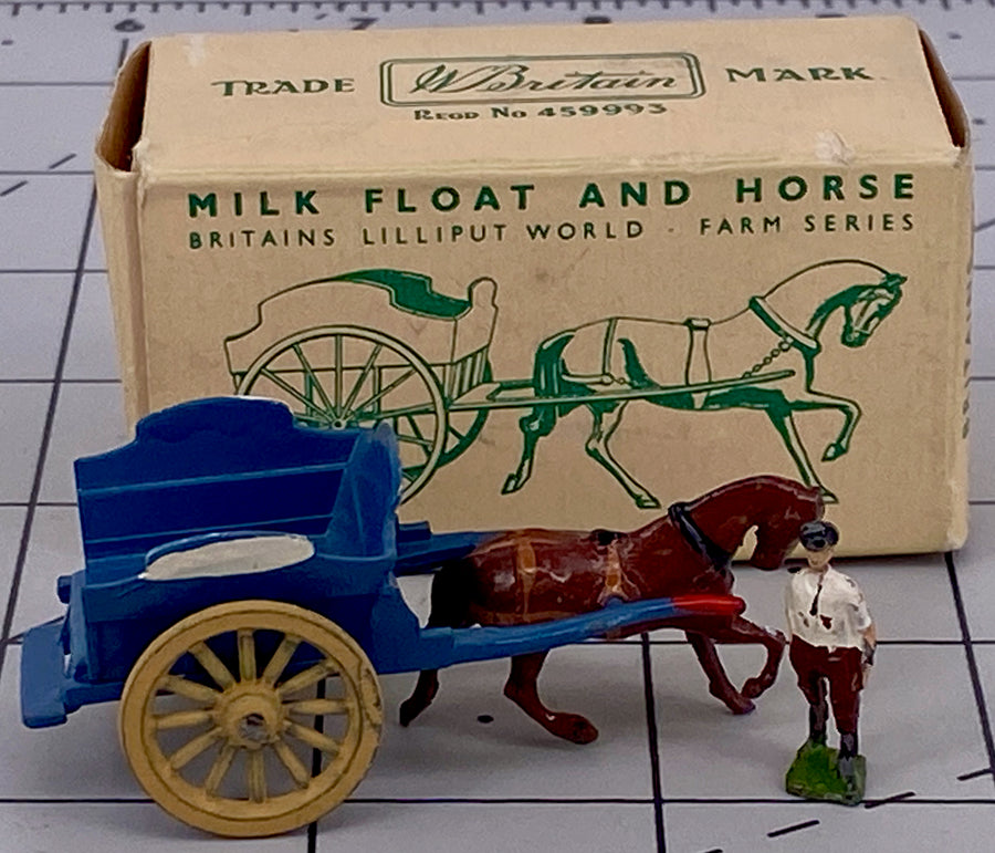 Britains Lilliput World milk float and horse, boxed