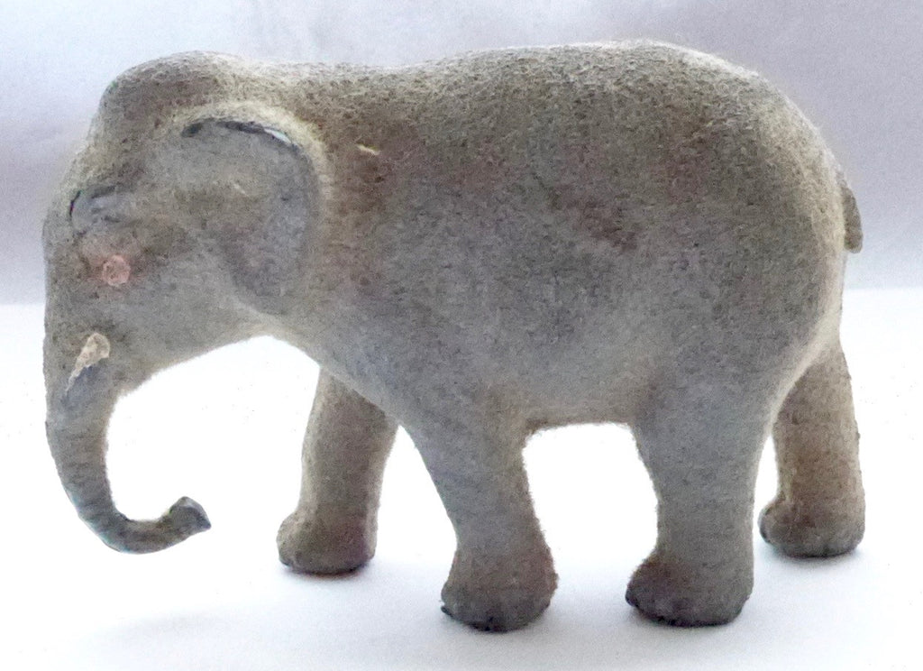 Taylor & Barrett flocked elephant