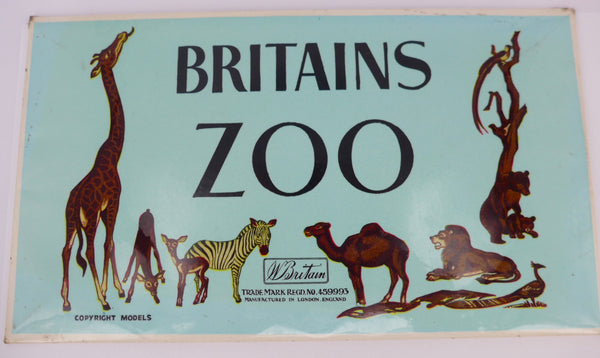 Britains Zoo shop display sign