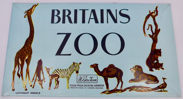 Britains Zoo shop display sign, Gibbs & Gibbs label