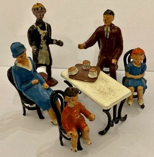 Taylor & Barrett rare Zoo Series visitors at tea set complete