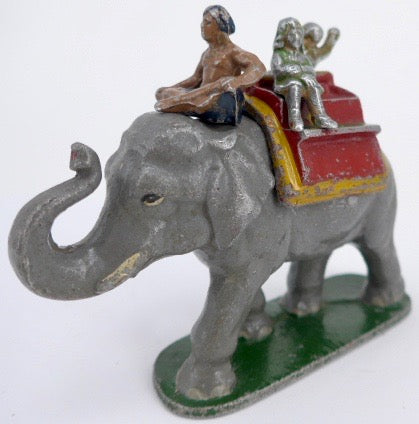 rare Wend-al elephant ride with mahout, howdah & two children