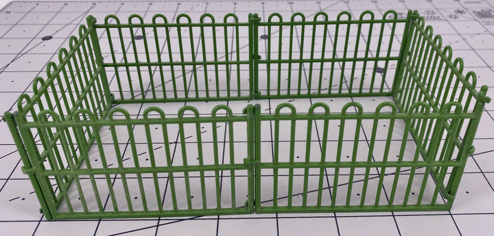 Britains zoo straight railings, set of six