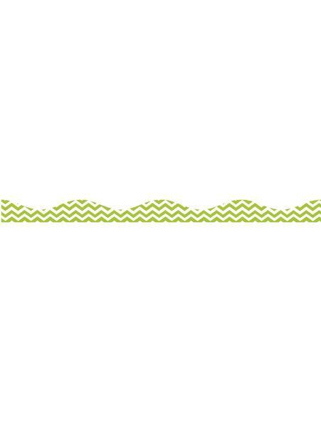 LIME CHEVRON BIG MAG BORDER