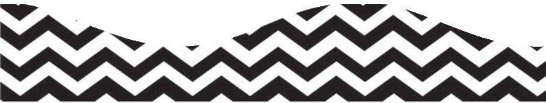 CHEVRON BLACK SCALLOP BORDER