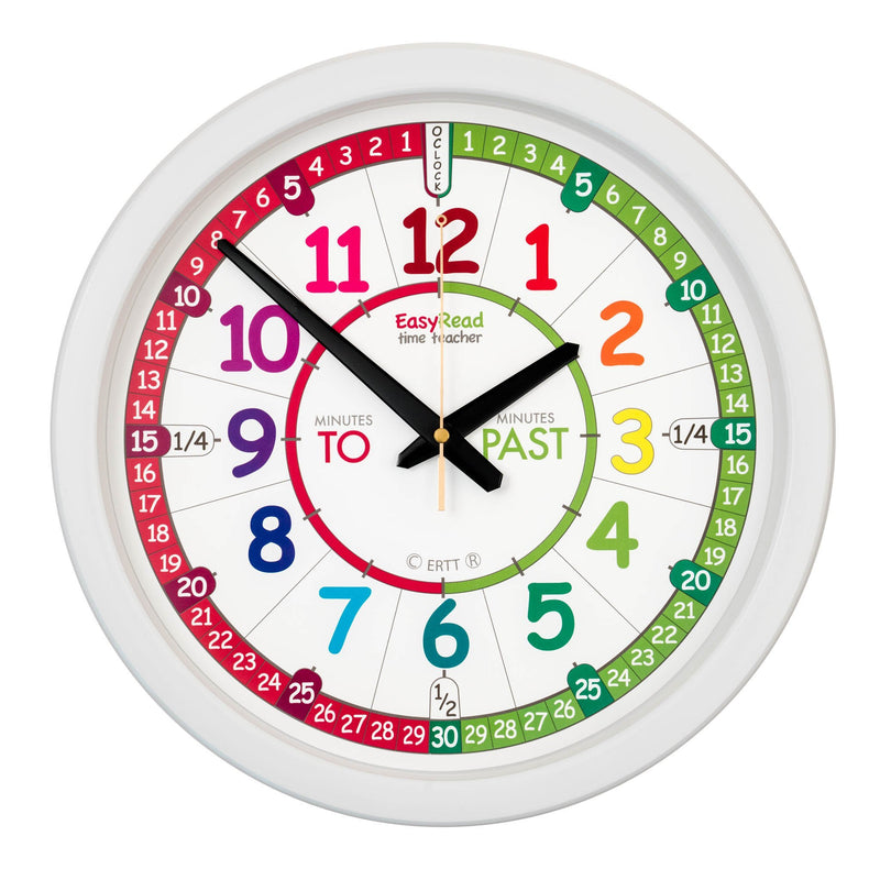 Time Teacher Rainbow Face Wall Clock