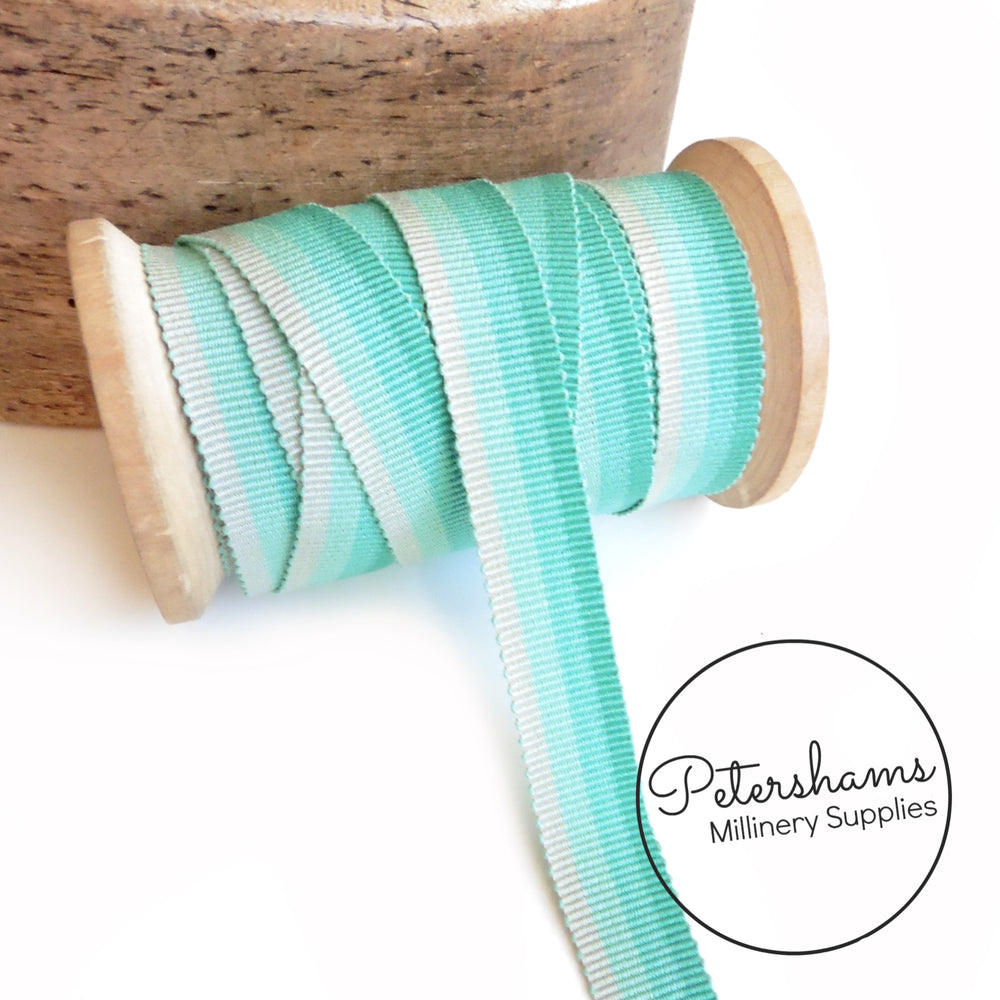 15mm No.3 Gradient Effect Millinery Petersham Hat Ribbon - 1m