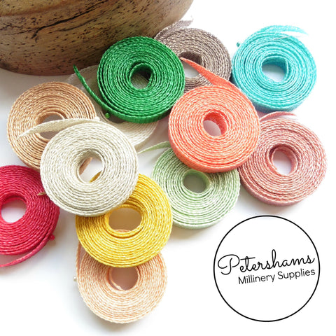 1cm wide Sinamay Bias Binding Strip - 1.6m