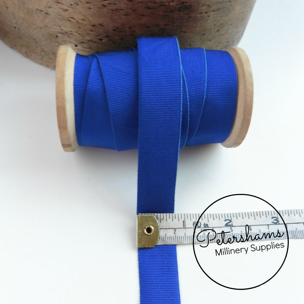20mm Wide Grosgrain Ribbon - Royal Blue