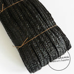 22mm Wide Traditional Millinery Straw Braid - Black