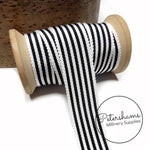 25mm No.5 Simple Striped Millinery Petersham Hat Ribbon - 1m